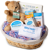 Image of Triple Family Baby Shower Gift Basket Reward