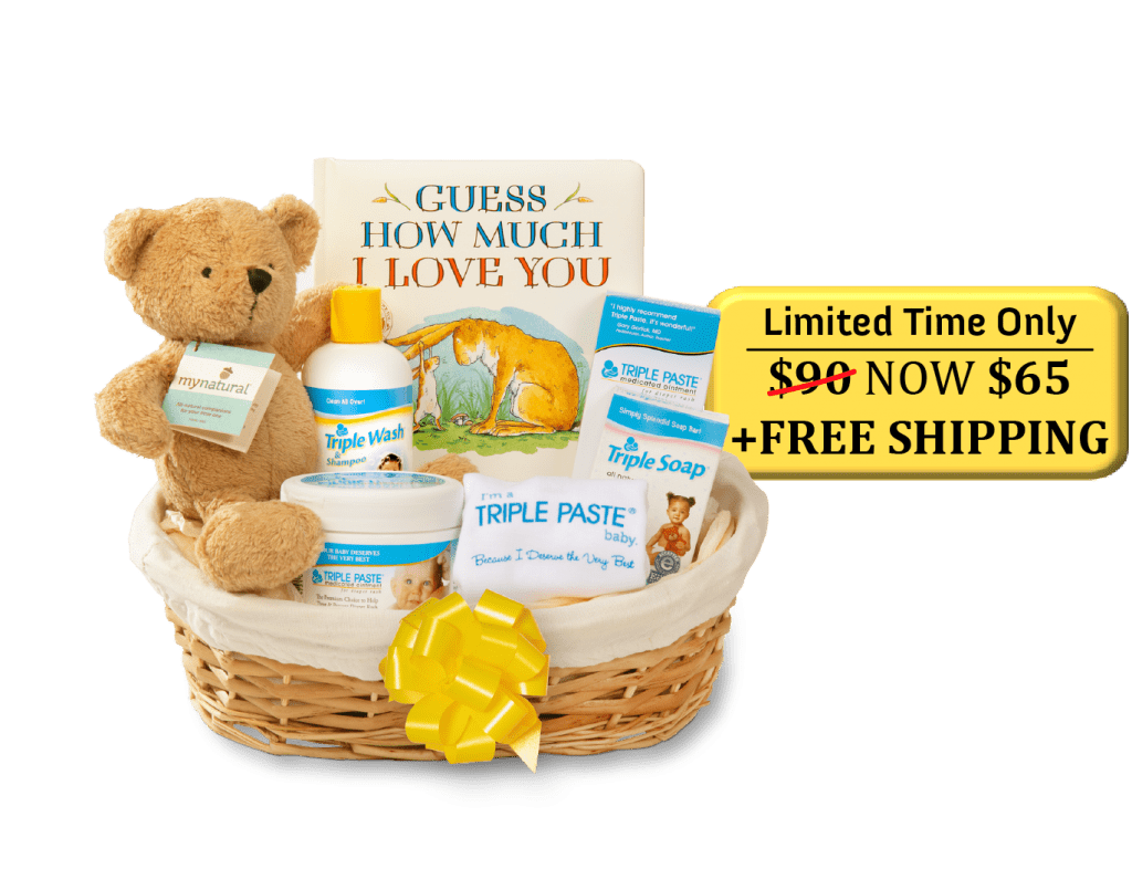 Image of Triple Paste Baby Gift Basket